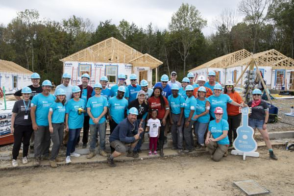 Habitat CEO Becky Lucas at the 2019 Jimmy and Rosalynn Carter Work Project in Nashville.
