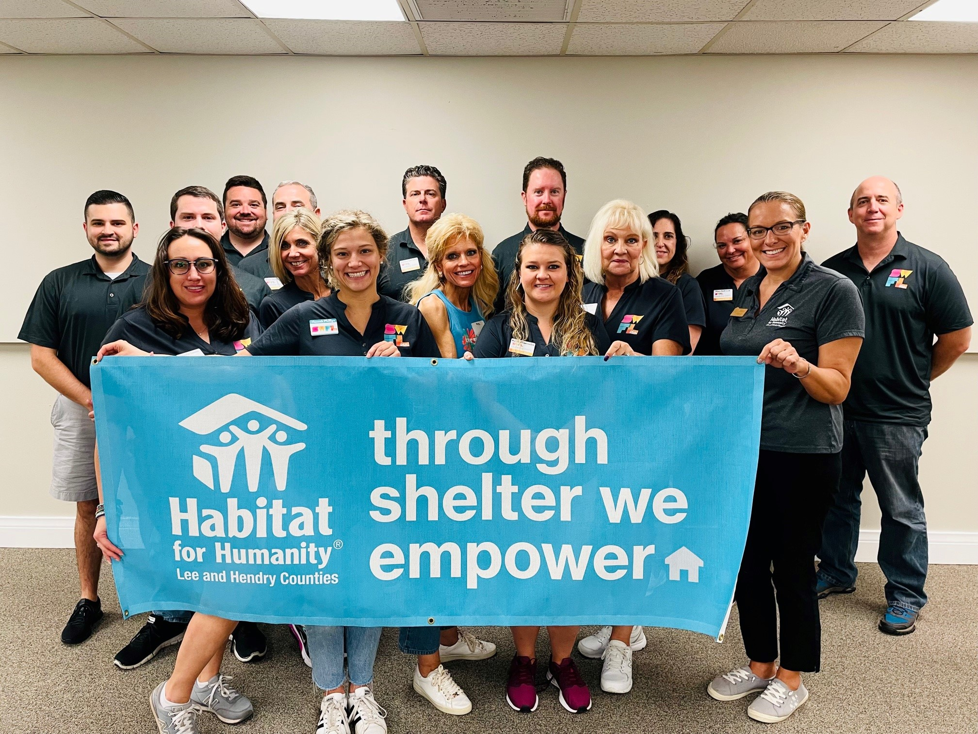 Leadership Southwest Florida 2021 Class visiting with Habitat for Humanity of Lee and Hendry Counties